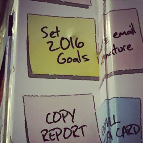 post-it set 2016 goals