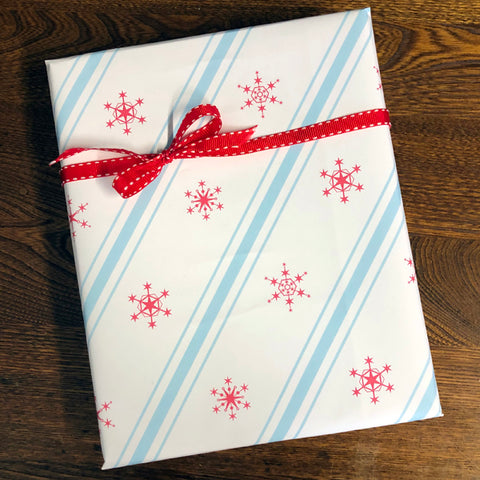 chicago snowflake gift wrap
