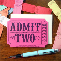 admit two ticket