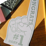 #1 baby foam finger