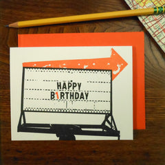 vintage birthday arrow
