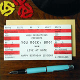 birthday rock ticket brother