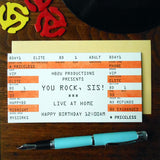birthday rock ticket sister