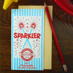 birthday sparkler box