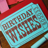 birthday wishes ticket