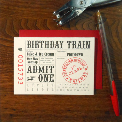birthday train ticket