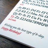 birthday typefaces