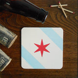 chicago flag coasters