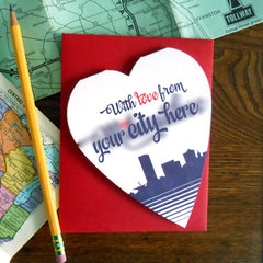 with love from custom city skyline- 48 minimum