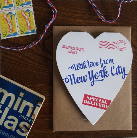 special delivery heart from new york city