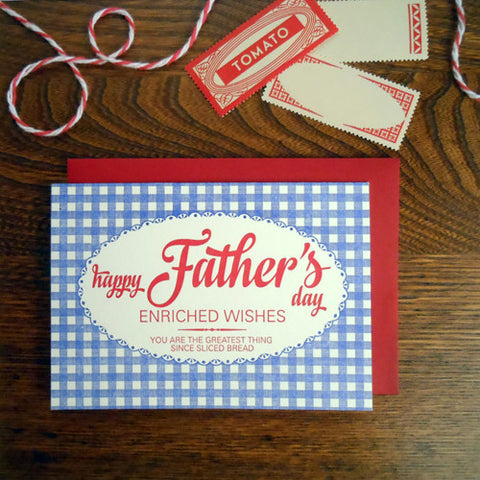 father's day bread bag