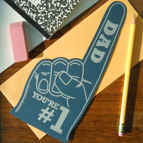 #1 dad foam finger