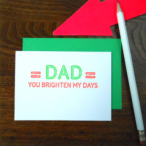 neon dad sign
