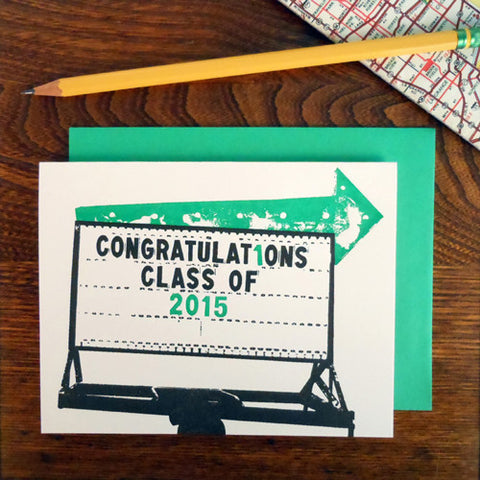 vintage graduation arrow
