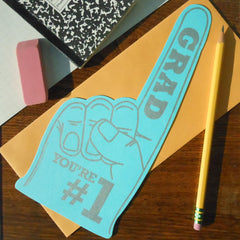 #1 grad foam finger
