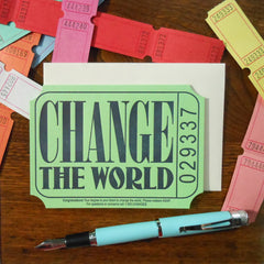 change the world ticket