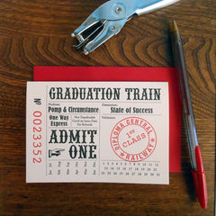 graduation train ticket