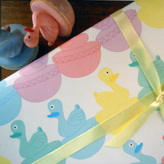carnival duckies gift wrap sheets
