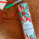 vintage holly gift wrap roll