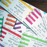holiday rock ticket wrap sheets