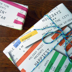 holiday rock ticket wrap roll