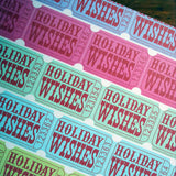holiday ticket wrap roll