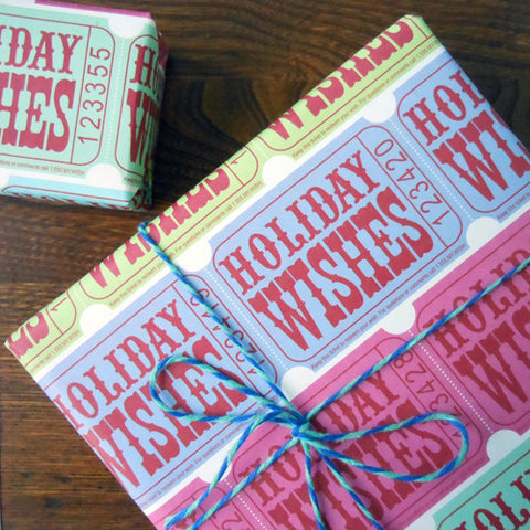 holiday ticket wrap sheets