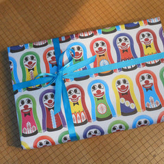knockdown doll gift wrap sheets