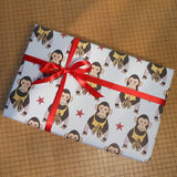 cheeky monkey gift wrap sheets