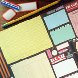 vintage office supplies gift wrap sheets