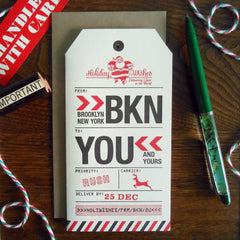 holiday brooklyn luggage tag
