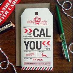 holiday california luggage tag
