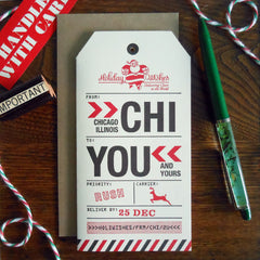 holiday chicago luggage tag
