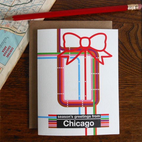 season's greetings from Chicago map