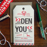 holiday denver luggage tag