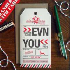 holiday evanston luggage tag