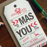 holiday massachusetts luggage tag