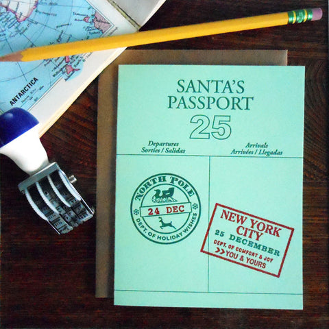 santa's passport - NYC