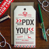 holiday portland luggage tag