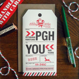 holiday pittsburgh luggage tag