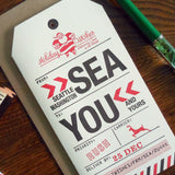 holiday seattle luggage tag