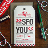 holiday san francisco luggage tag