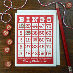 vintage holiday bingo