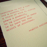 coolidge holiday quote