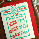 holiday filling station sign