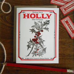 vintage holly seed pack
