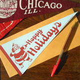 vintage holiday pennant