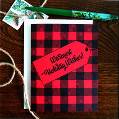 plaid warmest holiday wishes