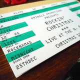 xmas rock ticket