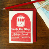 san fran holiday cable car sign